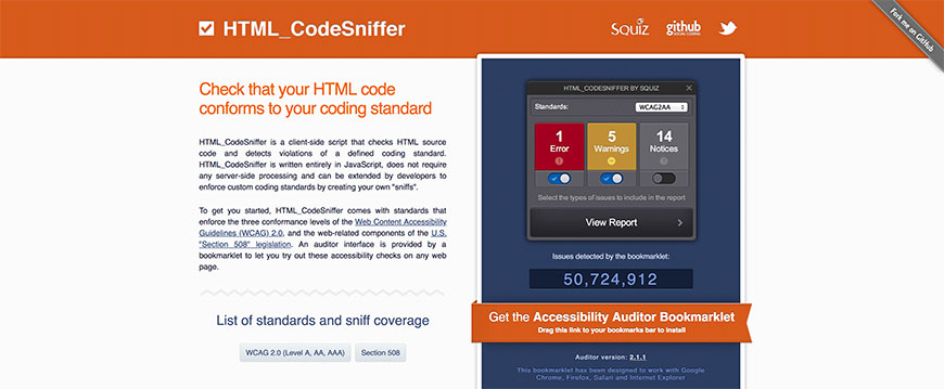 013 HTML CodeSniffer