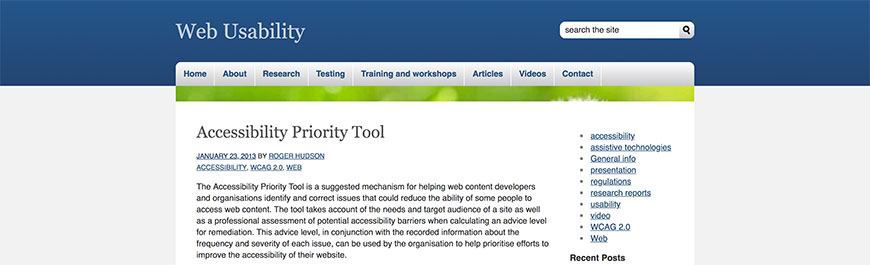 accessibility priority tool