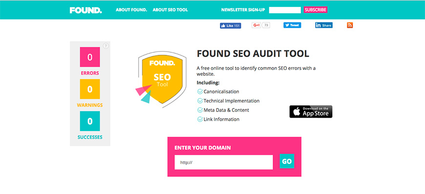 20 Found SEO Audit Tool