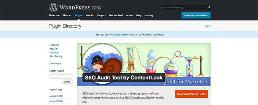 21 SEO Audit Tool by ContentLook