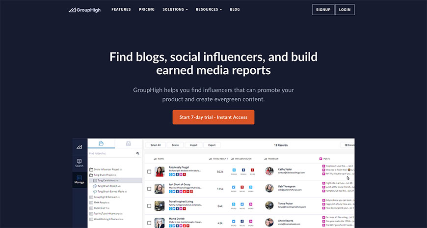 24 grouphigh influencer tools