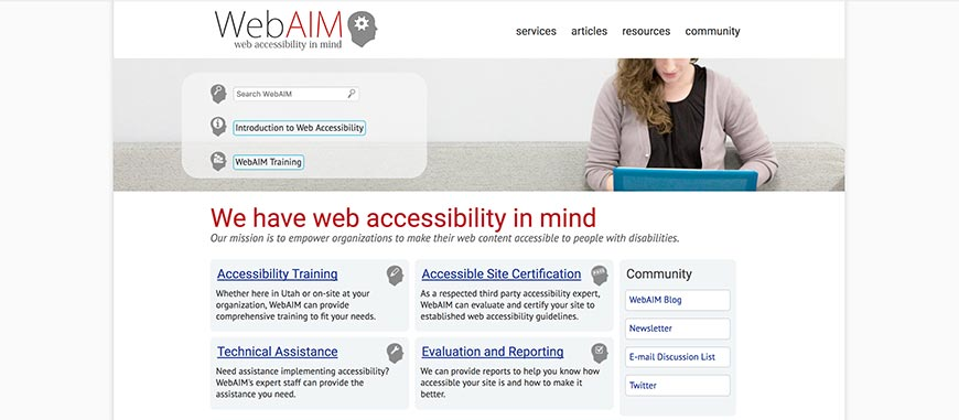 26 Web Accessibility in Mind