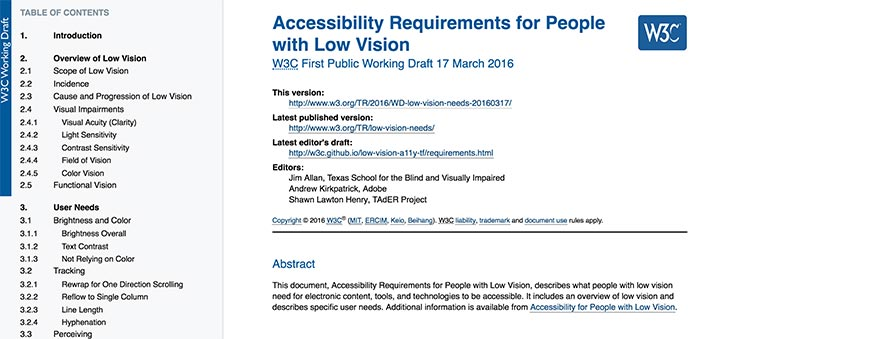 32 W3C Accessibility Requirements