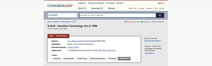 42 Assistive Technology Act