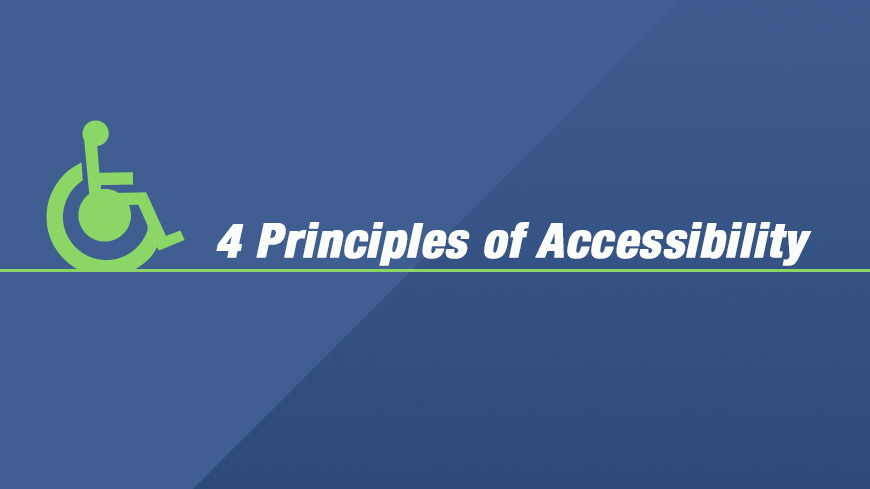 4 principles of accessibility