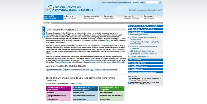 57 Universal Design for Learning Guidelines Version