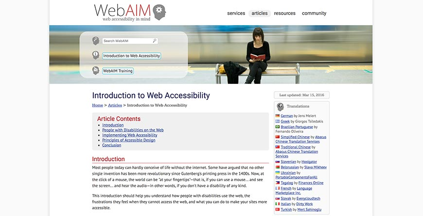 58 Advice for Accessible Web Design