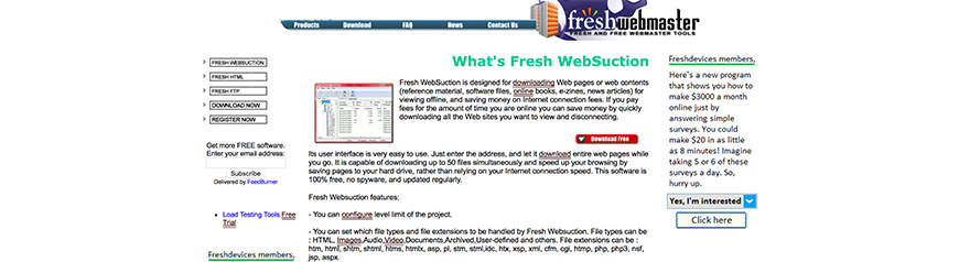 FreshWebSuction