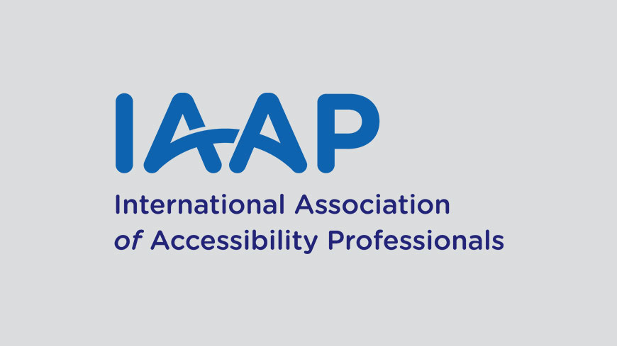 IAAP International Association of Accessibility Professionals