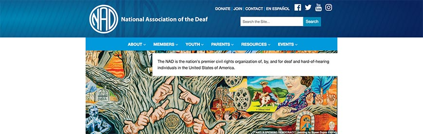National Association of the deaf accessibility resources