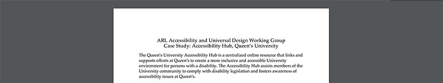 Universal Design Working Group