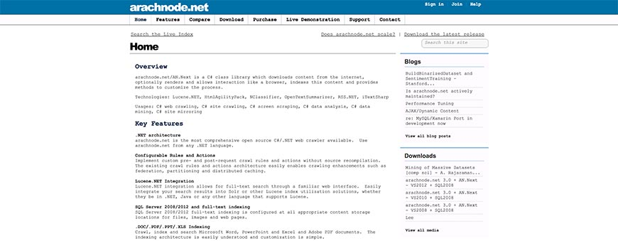 arachnode website crawler