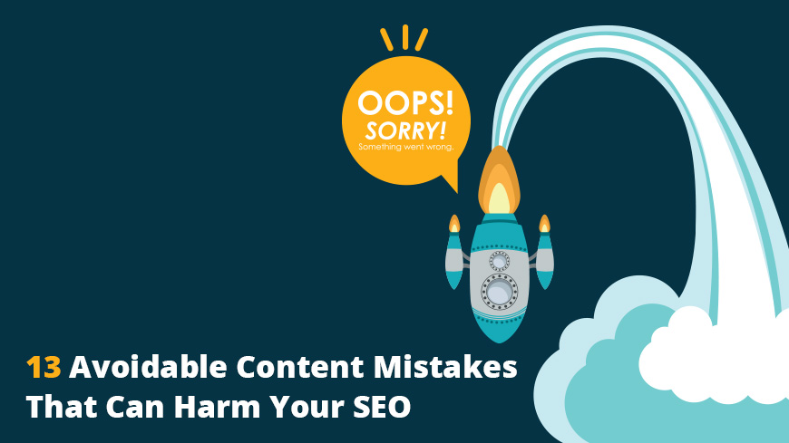 avoidable content mistakes seo