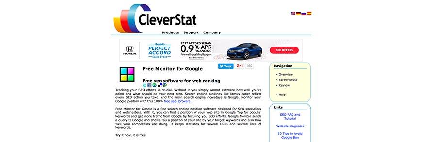 cleverstat keyword ranking