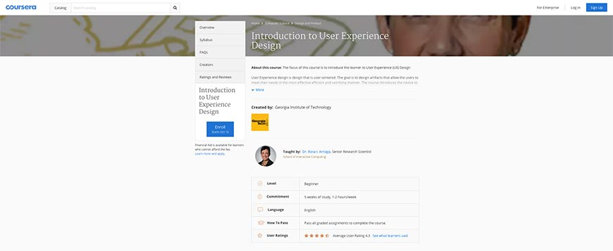 coursera ux