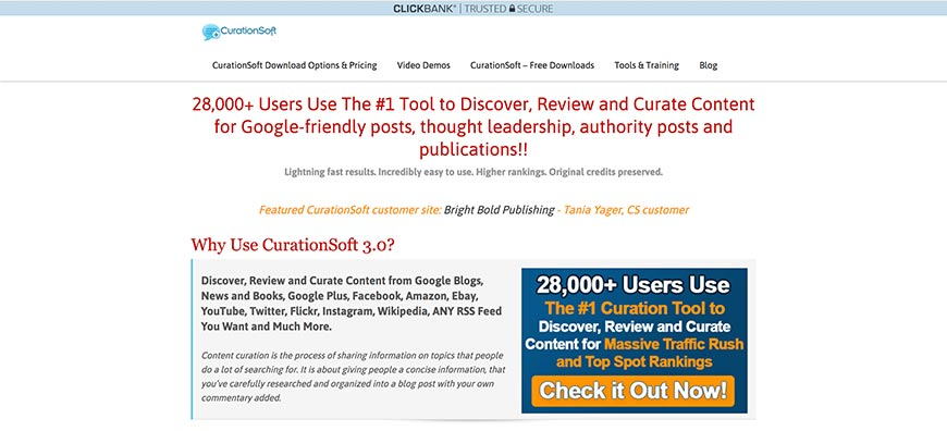 curationsoft content curation tools