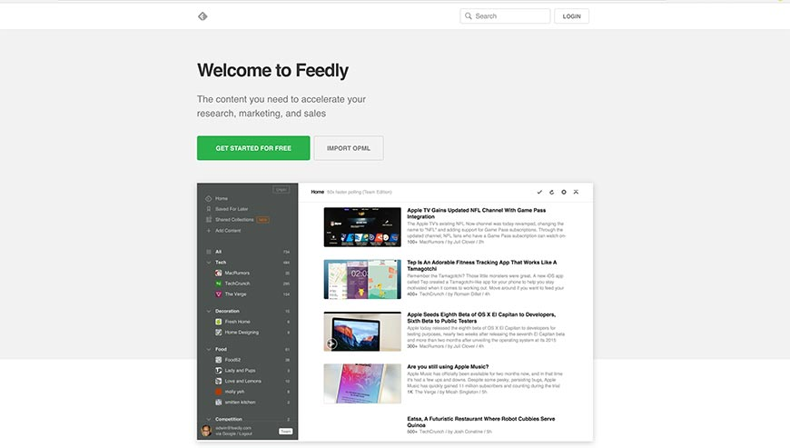 feedly content curation tools