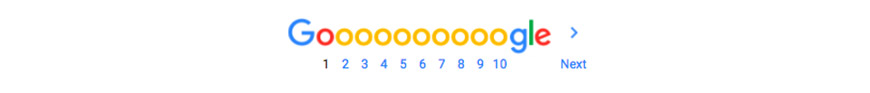 google pagination example