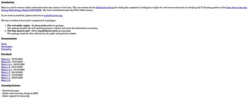 metis website crawler