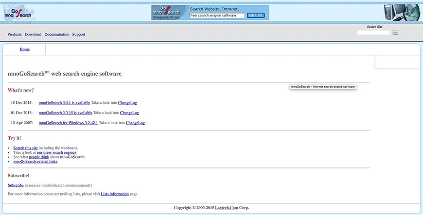 mnogosearch website crawler
