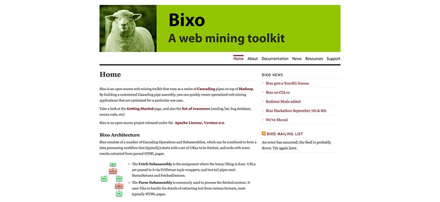 openbixo website crawler