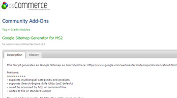 Google Sitemap Generator for MS2
