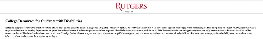 rutgers accessibility resources