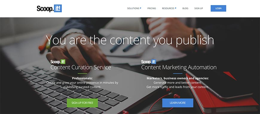 scoopit content curation tools