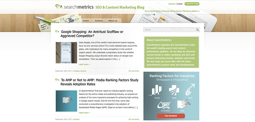 searchmetrics seo blog