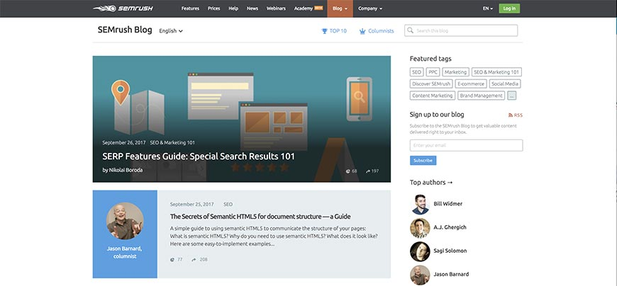 semrush seo blog