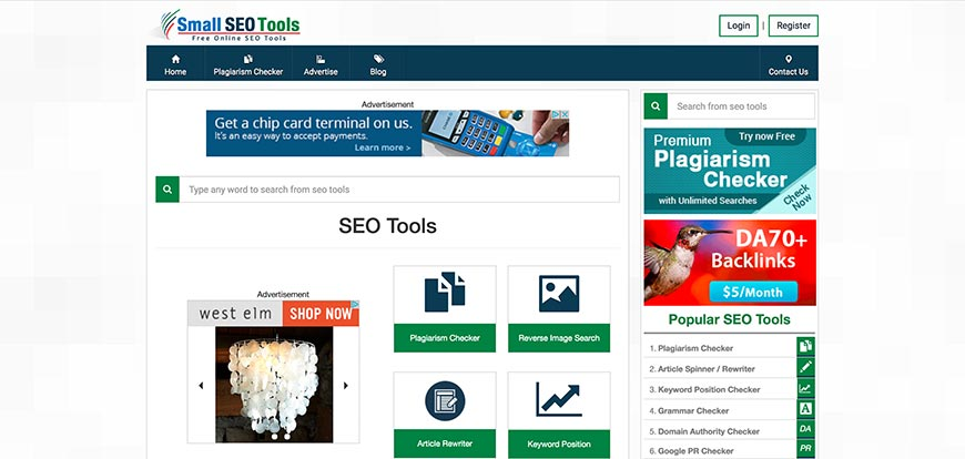 smallseotools keyword ranking