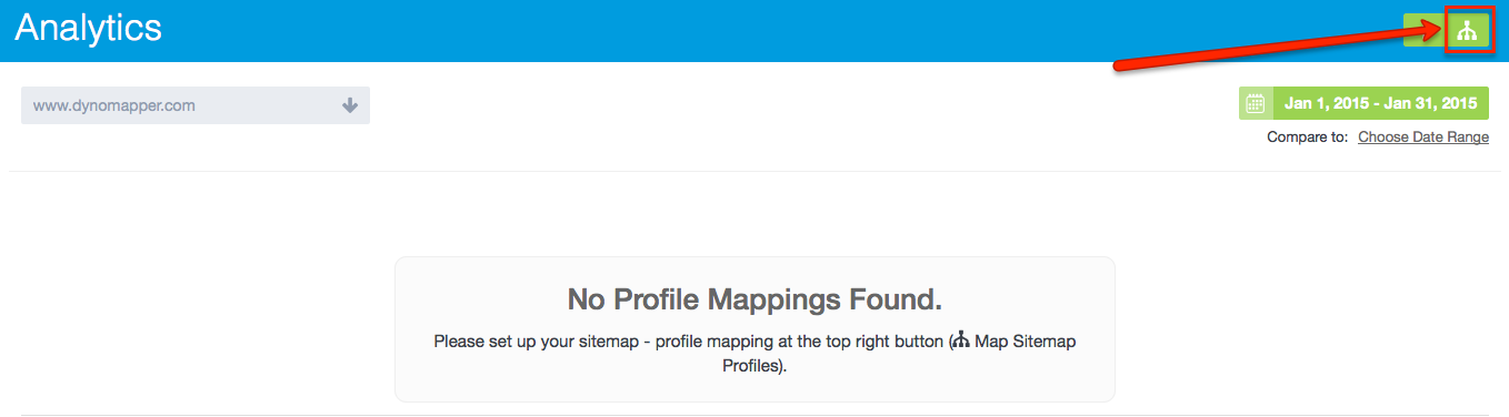 Map Sitemap to Analytics