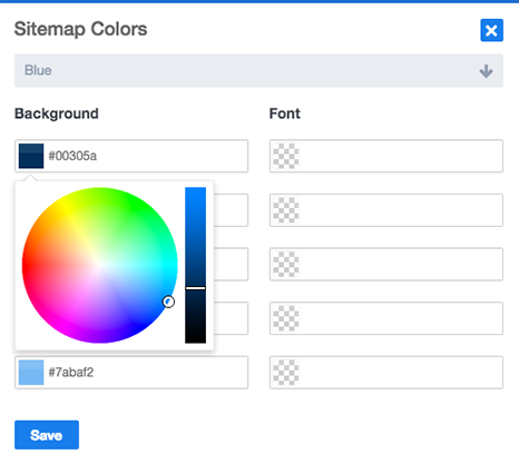 Sitemap Color Selection