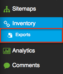 Content Inventory Export