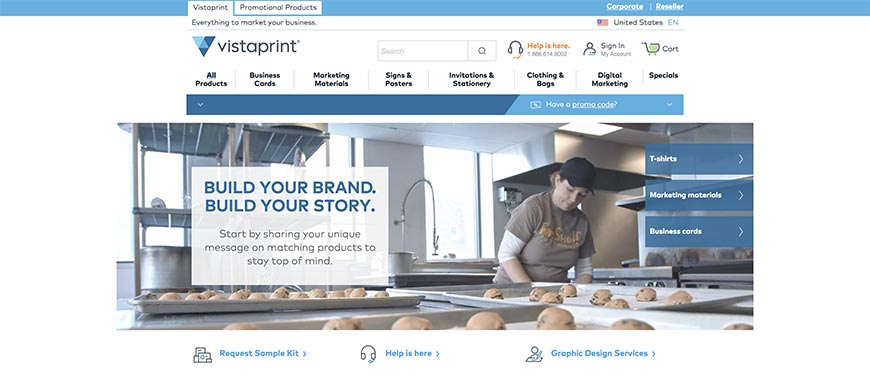 Vistaprint website dashboard | blog.