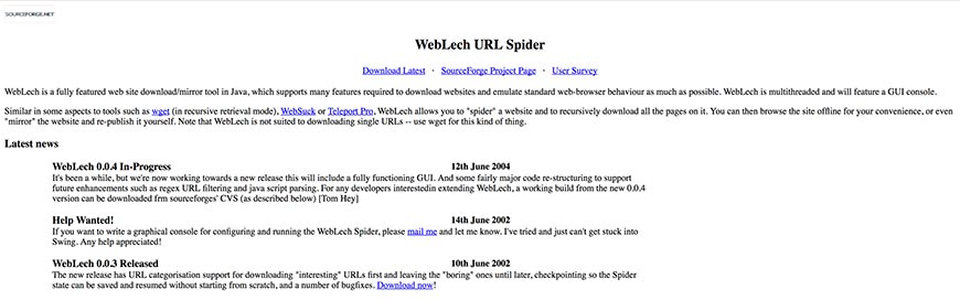 weblech website crawler