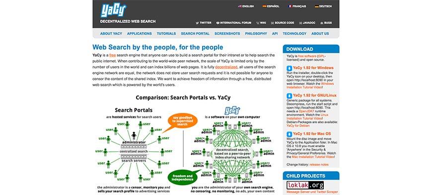 yacy website crawler