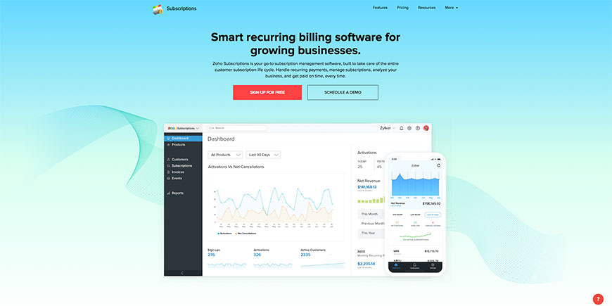 zoho recurring payments